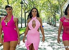 Sex with three big boobs babes, Marta La Croft, Suhaila Hard and Gigi Love