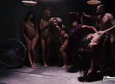 THE MOST INSANE 9 VS 1 GROUP ROUGH SEX ORGY MARATHON YOU HAVE EVER SEEN! - Featuring: Dani Daniels / Carmen Callaway / James Deen / Jessica Ryan / Janice Griffith / Carmen Caliente & MORE!