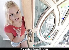 ExxxtraSmall - Petite Blonde (Alex Grey) Conned and Fucked By Salesman