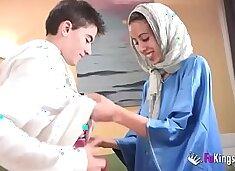 We surprise Jordi by gettin him his first Arab girl! Skinny teen hijab