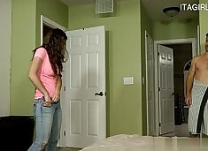 Molly Jane in b. step daughter throat fucking