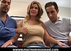 Double penetration with your busty wife