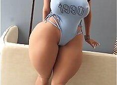 ssbbw sex doll, Beefy Legs, chubby fat girl, huge boobs, super big ass