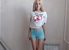 Hot blonde dancing on webcam / What`s her name?