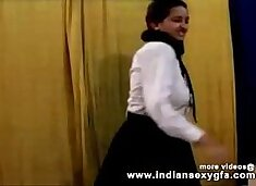 Horny Hot Indian PornStar Babe as School girl Squeezing Big Boobs and masturbating Part1 - indiansex