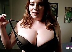 Thick Step Mom with Huge Tits Catches Me Jerking Off - Maggie Green