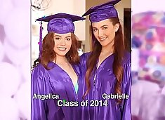 GIRLS GONE WILD - Surprise graduation party for teens ends with lesbian sex