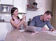 FuckStudies.com - Ambika Gold - The cute virgin tries anal