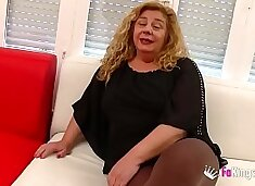Chubby MILF has a threesome with Ainara and Jordi `cause she wants to feel young again