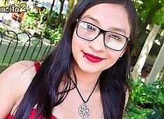MAMACITAZ - Latina Teen Eva Cuervo Fucks With Stranger During Lunch Break