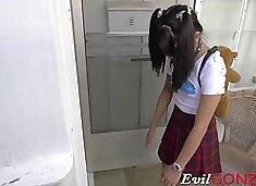 Slutty schoolgirl Sadie Pop with super hot body gets banged