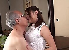 Beautiful Asian teen seduces an old man to satisfy her needs