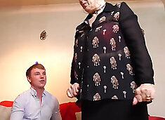 Granny Shags Teen Cock