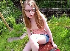 Roleplay daddy creampies daugther outdoor