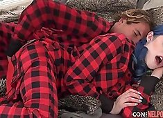 The Sleeping Couple In Plaid Pajamas Sex During Sleep