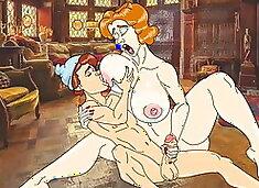 Lucky son fucks sexy mature moms! Porn cartoon