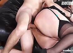 Danette Squirt Italian Mature Bbw Rough Anal With Young Stud