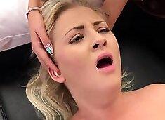 Doctor watches hymen examination and virgin kitten nailing