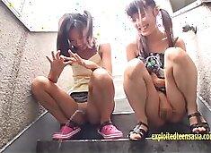 Petite Asami Tsuchiya, Shuna Kagami Play With There Pussies And Piss Cheeky JK Girls Nice Pink