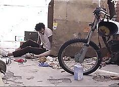 Homeless Migrant Breeding White Wife