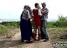 Gangbang with Little perv Riding Hood