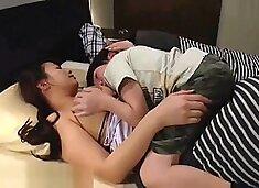 Kohey Nishi sex with stepmother big tits when her husband sleeping