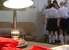Awesome teens get caning to admit the guilt
