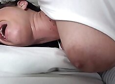 Sensational brunette with big tits is getting penetrated wildly