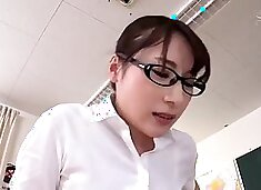 Group of ladyboys have pleasure with a double sex tool