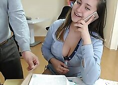 Hot Teasingshow in the Office (Camshow)