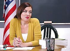 School teacher wants pussy in a soft lesbian classroom shag