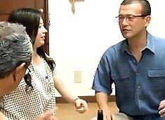 Slutty Japanese housewife indulges in wild cuckold fucking