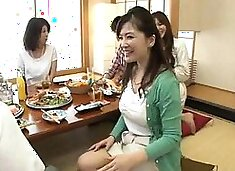 Luscious Japanese housewives satisfy their need for cock