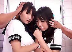 Incredible japanese model tsubomi, mirei kazuha in best dildostoys, stockingspansuto private school toilet knee mirei kazuho